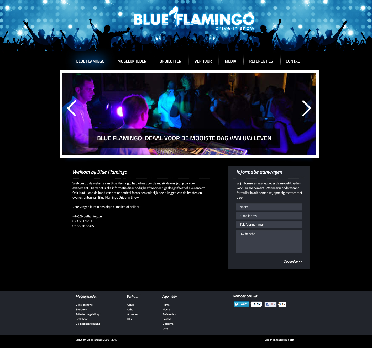 Blue Flamingo webdesign